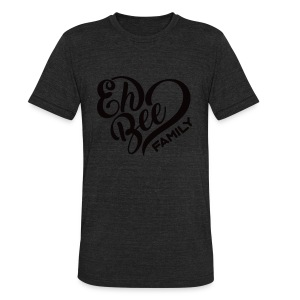Eh Bee Black Logo TEE - Unisex Tri-Blend T-Shirt by American Apparel
