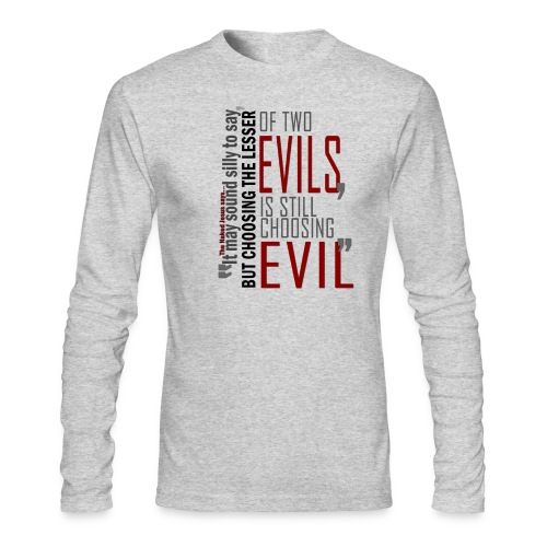 Evil - Men's Long Sleeve T-Shirt by Next Level