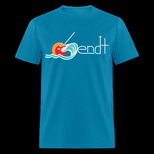 SEND IT - Wave (Multiple Colors-White Text)  - Men's T-Shirt