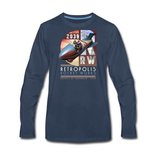 Retropolis Rocket Works Long-Sleeve T - Men's Premium Long Sleeve T-Shirt