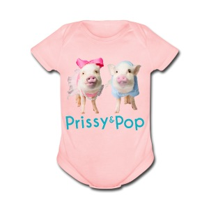 Prissy and Pop Baby  - Short Sleeve Baby Bodysuit