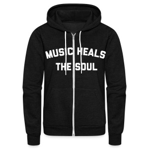 Music Heals The Soul™ - Zip Hoodie - Unisex Fleece Zip Hoodie by American Apparel