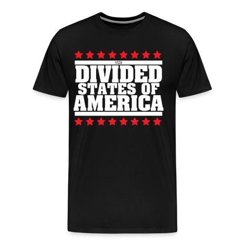 DIVIDED STATES OF AMERICA MEN'S TEE BLACK - Men's Premium T-Shirt