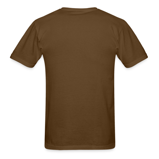 Bigfoot It Came from the Woods  - Men's Shirt - Brown Print