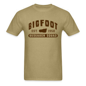 Bigfoot Research Squad - Men's Shirt - Brown Print - Men's T-Shirt