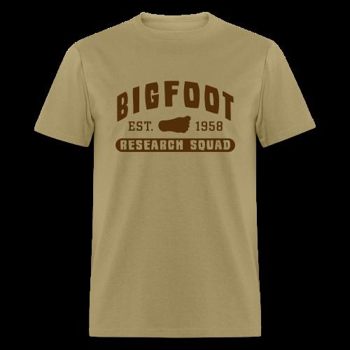 Bigfoot Research Squad - Men's Shirt - Brown Print - Men's T-Shirt