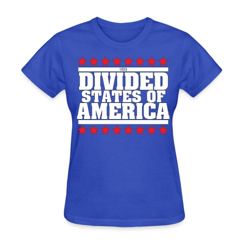 DIVIDED STATES OF AMERICA WOMEN'S TEE BLUE - Women's T-Shirt
