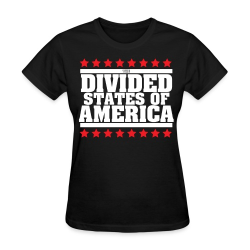 DIVIDED STATES OF AMERICA WOMEN'S TEE BLACK - Women's T-Shirt