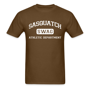 Sasquatch Swag Athletic Department II - Men's Shirt - White Print - Men's T-Shirt