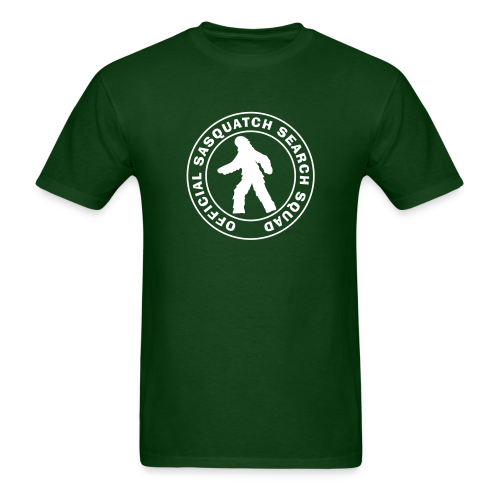 Official Sasquatch Research Squad  - Men's Shirt - White Print - Men's T-Shirt