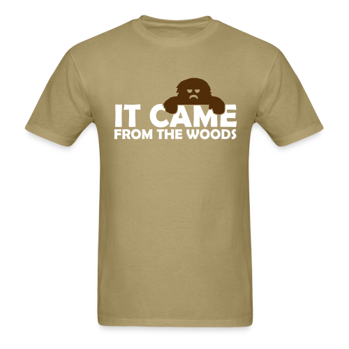 Bigfoot It Came from the Woods  - Men's Shirt - Brown Print - Men's T-Shirt