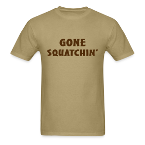 Gone Squatchin' Bigfoot Shirt - Men's - Brown Print - Men's T-Shirt