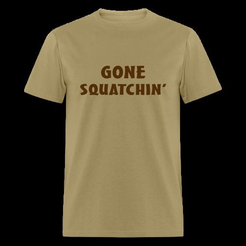 Gone Squatchin' Bigfoot Shirt - Men's - Brown Print - Men's T-Shirt