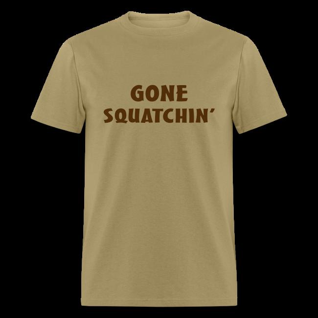 Gone Squatchin' Bigfoot Shirt - Men's - Brown Print