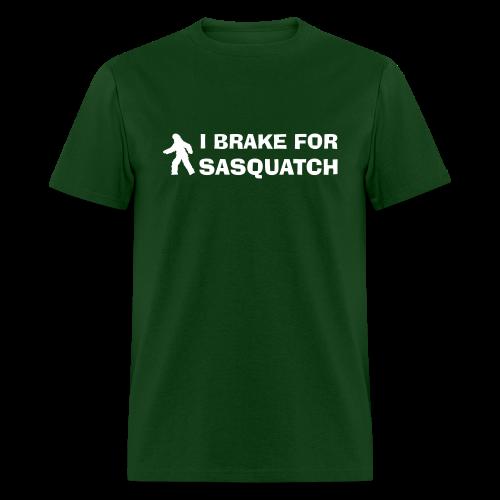 I Brake for Sasquatch - Men's Shirt - White Print - Men's T-Shirt