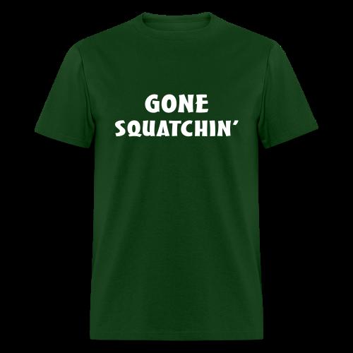 Gone Squatchin' Bigfoot Shirt - Men's - White Print - Men's T-Shirt