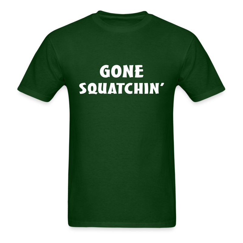 Gone Squatchin' Bigfoot Shirt - Men's - White Print - Men's T-Shirt