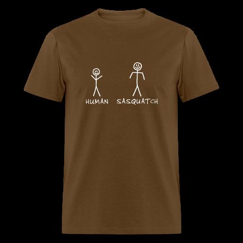 Sasquatch Identification Shirt - Men's - White Print - Men's T-Shirt