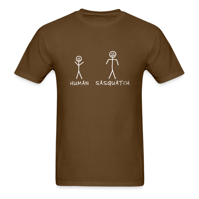 Sasquatch Identification Shirt - Men's - White Print