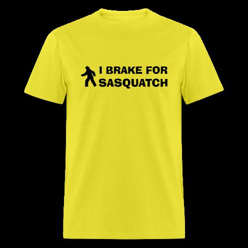 I Brake for Sasquatch - Men's Shirt - Black Print - Men's T-Shirt