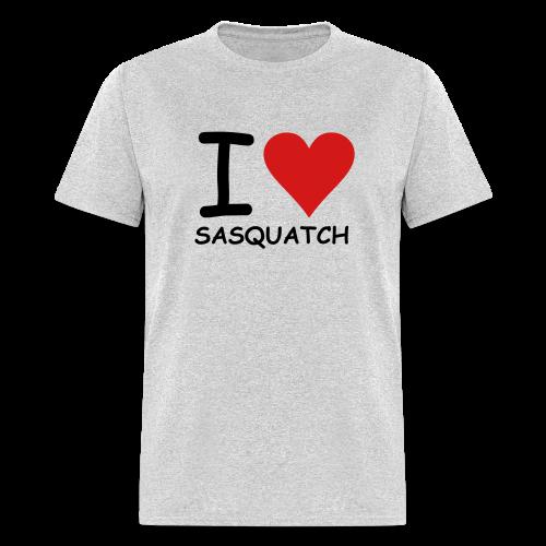 I Love Sasquatch - Men's - White Print - Men's T-Shirt
