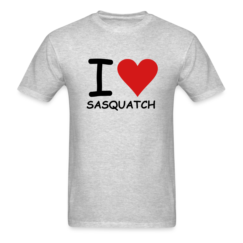I Love Sasquatch - Men's - White Print - Men's T-Shirt