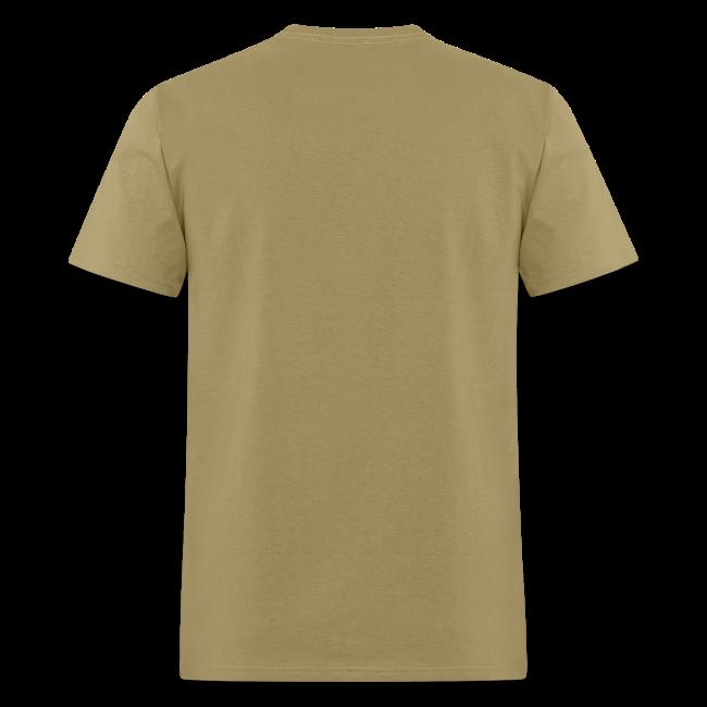 Sasquatch Bigfoot Save a Tree Eat a Beaver Camping Shirt - Brown Print