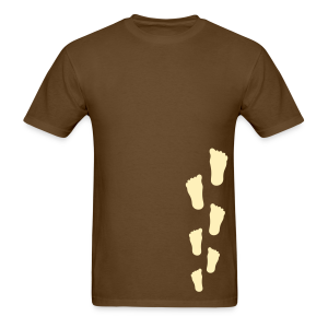 Bigfoot Sasquatch Footprint Shirt - Men's - Cream Print - Men's T-Shirt