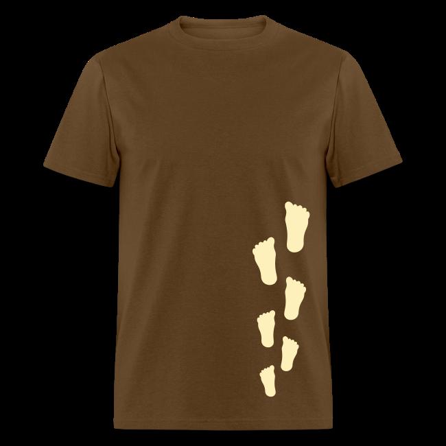 Bigfoot Sasquatch Footprint Shirt - Men's - Cream Print