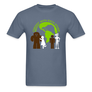 Sasquatch Human Alien World Peace Shirt - Men's Shirt - Men's T-Shirt