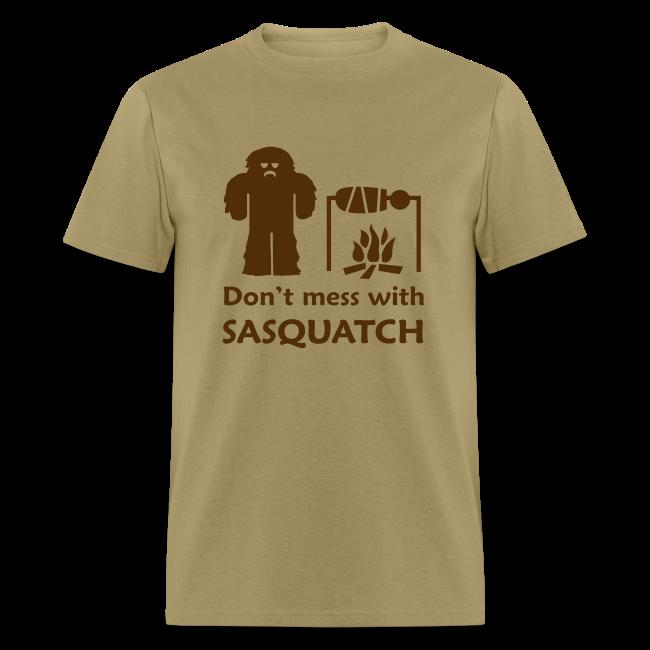 Don't Mess with Sasquatch - Men's Shirt - Brown Print