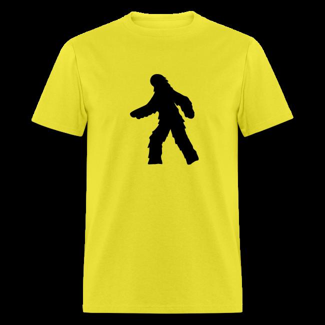 Sasquatch / Bigfoot Crossing - Men's Shirt - Black Print