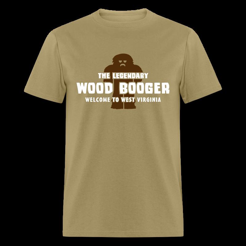 The Legendary Wood Booger of West Virginia  - Men's Shirt - White Print - Men's T-Shirt