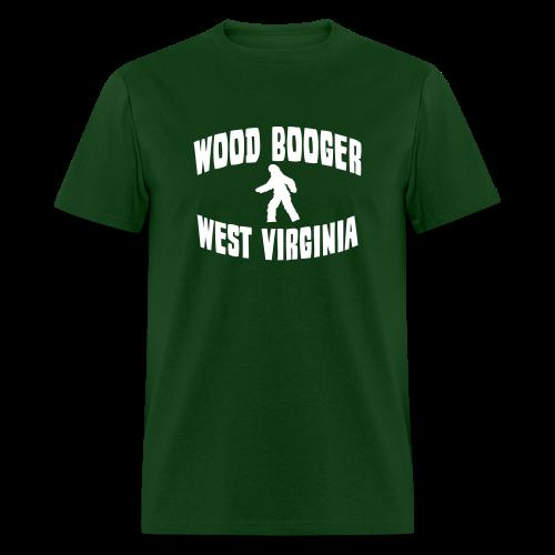 Wood Booger West Virginia Bigfoot  - Men's Shirt - White Print - Men's T-Shirt