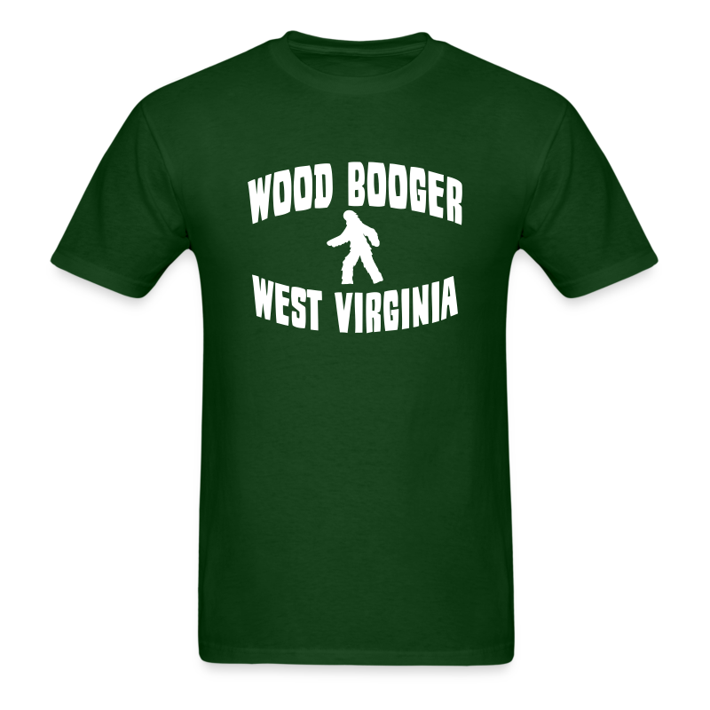 Wood Booger West Virginia Bigfoot  - Men's Shirt - White Print - Men's T-Shirt