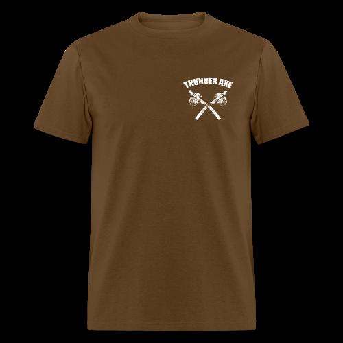 Thunder Axe / Lightning Man Bigfoot / Sasquatch Shirt - White Print (Front & Back) - Men's T-Shirt