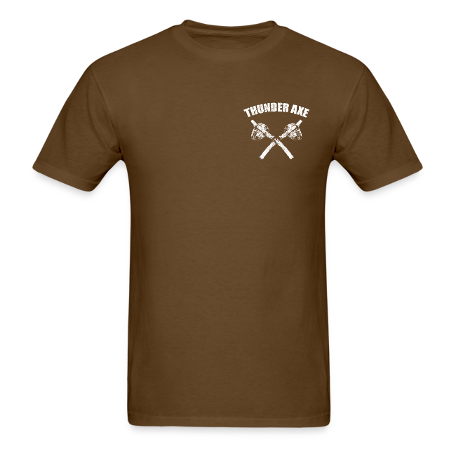 Thunder Axe / Lightning Man Bigfoot / Sasquatch Shirt - White Print (Front & Back)