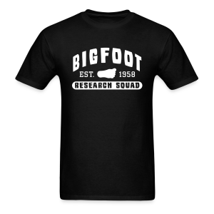 Bigfoot Research Squad - White Print (Front & Back) - Men's T-Shirt