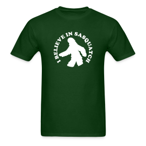 I Believe in Sasquatch / Bigfoot - Men's Shirt - White Print - Men's T-Shirt