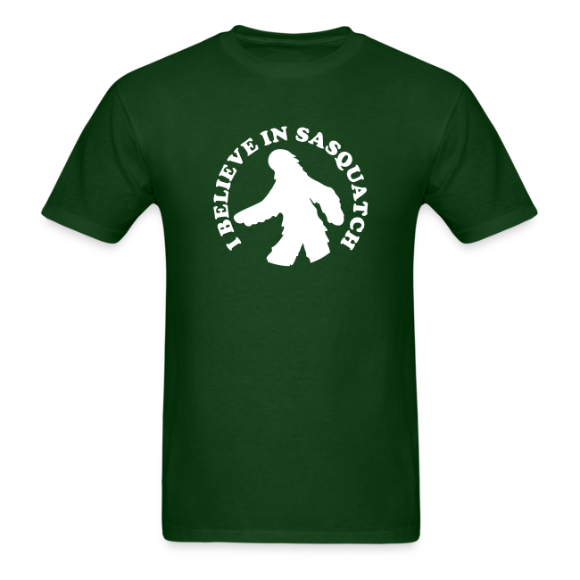 I Believe in Sasquatch / Bigfoot - Men's Shirt - White Print