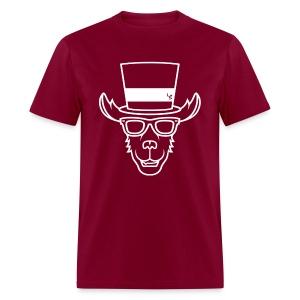 TheLlamaSir White Logo Men's T-shirt - Men's T-Shirt
