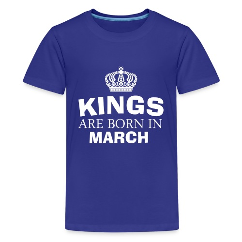 kings are born in march - Kids' Premium T-Shirt