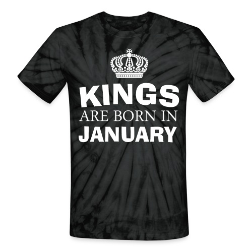 kings are born in february - Unisex Tie Dye T-Shirt