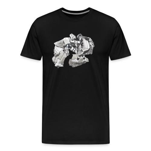 Lacrosse Cutout - Men's Premium T-Shirt