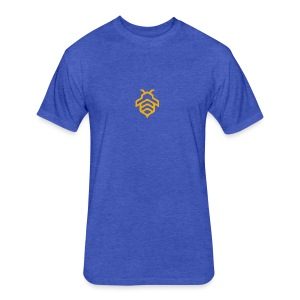 Furious Collective Bee on Blue (Men) - Fitted Cotton/Poly T-Shirt by Next Level