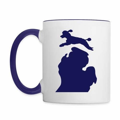 Poodle mug - Contrast Coffee Mug