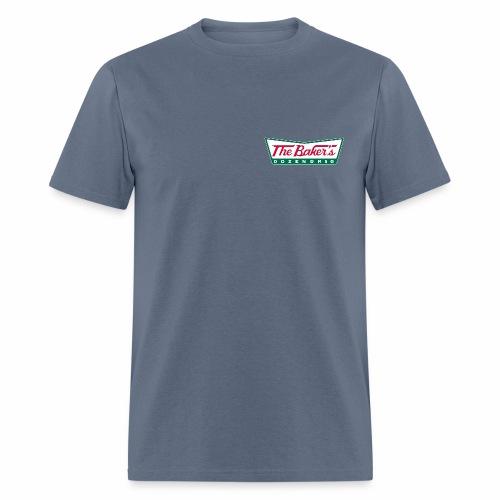 The Baker's Dozen Men's T-shirt (lapel front, glow-in-the-dark back) - Men's T-Shirt