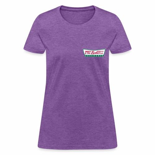 The Baker's Dozen Ladies' T-shirt (lapel front, glow-in-the-dark back) - Women's T-Shirt