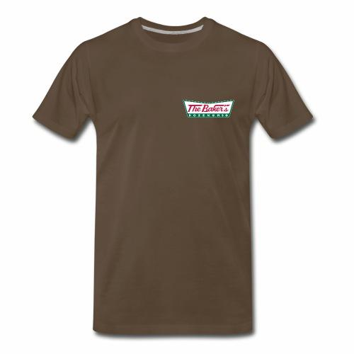 The Baker's Dozen Men's T-shirt (premium) (lapel front, black back) - Men's Premium T-Shirt