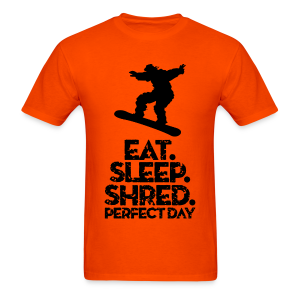 Snowboarder Eat Sleep Shred - Men's T-Shirt